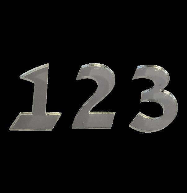 מספרים מעוצבים פרספקס