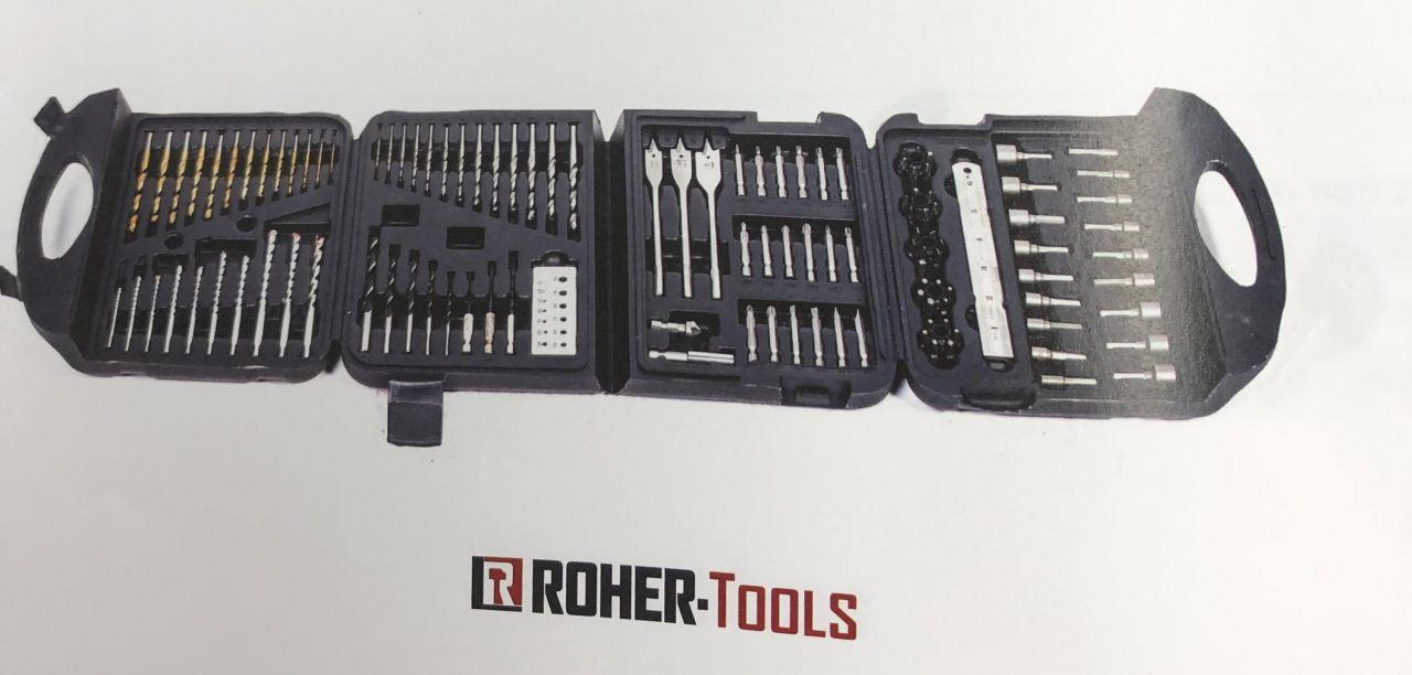 סט מקדחים מקצועי 122 חלקים ROHER